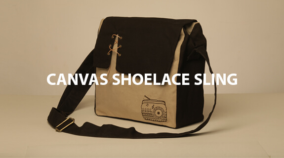 Canvas Shoelace Sling